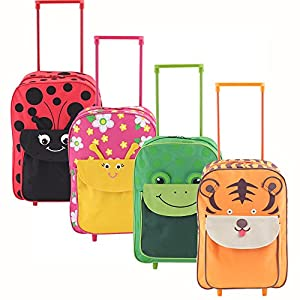 More4bagz Childrens Animal Cabin Approved Luggage Wheeled Trolley Suitcase Bag