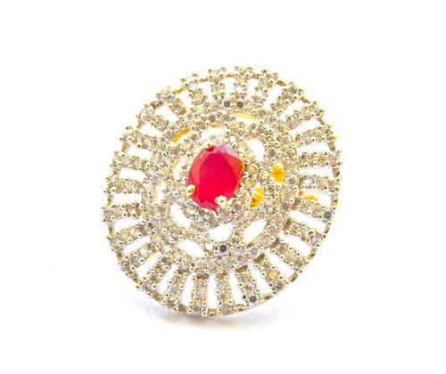 Orne Jewels Ruby Diamond Cocktail Ring For Women