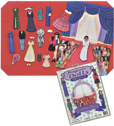 Magnetic Dolls Dress Up Fashion Show Set - 1