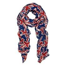 TrendsBlue UK British Flag Small Print Fashion Scarf