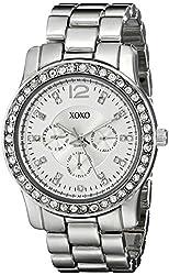 XOXO Women's XO5505 Silver-Tone Rhinestones Bezel Bracelet Watch