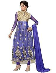 Price Bet Purple Net Anarkali Suit Salwar Suit