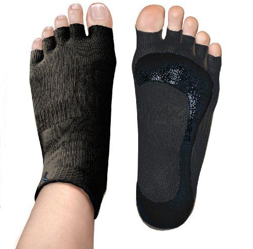 Stick-e Brands Yoga Stick-e Socks (Medium, Black)