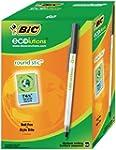 BiC Ecolutions Round Stic Pens - Blac...