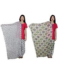 Indistar Women's Cotton Patiala Salwar With Dupatta Combo (Pack Of 2 Salwar With Dupatta) - B01HRK8ZRA