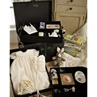 Baby Keepsake Storage Chest with Three Velvet Covered Trays