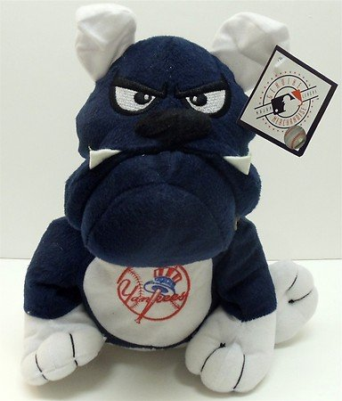 "MLB New York Yankees 9"" Plush Team Themed Bulldog Plush Doll with Yankee Symbol on Tummy at Amazon.com"