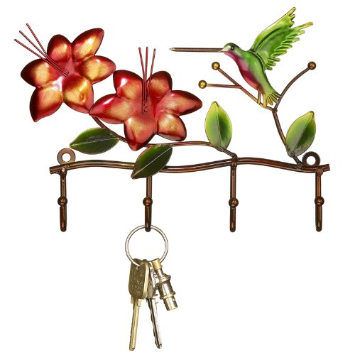 Deco Flair Hummingbird Metal Key Ring Holder
