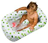51gJmio9ViL. SL160  Mommys Helper Inflatable Bath Tub Froggie Collection, White/Green, 6 18 Months Reviews