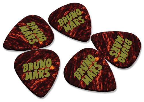 bruno-mars-5-x-hot-foil-guitarra-picks-puas-carey-shell