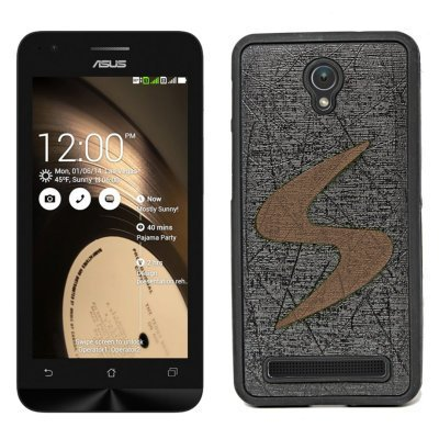 ECellStreet Exclusive Designer Rubberised Soft Back Case Cover Back Cover for Asus Zenfone C ZC451CG - Brown in Black