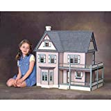 Real Good Toys Real Good Toys Victoria's Farmhouse Dollhouse Kit - 1 Inch Scale, Milled Medium Density Fiberboard, Medium Density Fiberboard
