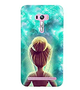 PrintVisa Cute Cartoon Fairy 3D Hard Polycarbonate Designer Back Case Cover for Asus Zenfone Selfie