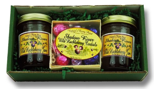 Shadow River Wild Huckleberry Gourmet Boxed Gift Set - Huckleberry Jam & Huckleberry Cordials
