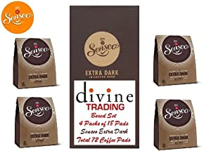 Find Douwe Egberts Senseo Extra Dark Roast Coffee 18 Pads (Divine Trading Box Set of 4, Total 72 Pads) by Douwe Egberts Senseo