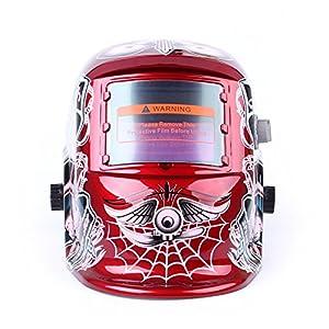 Areyourshop Solar Auto Darkening Welding Helmet ARC TIG MIG Weld Welder Lens Grinding Mask Red from Areyourshop
