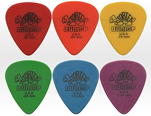 dunlop-tortex-standard-plectrum-set-pack-of-6-05-114-mm-1-of-each-050mm-red-060mm-orange-073mm-yello