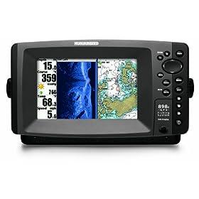 Humminbird 898c SI Combo 7-Inch Waterproof Marine GPS and Chartplotter with Sounder