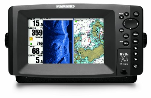 Humminbird 898c SI Combo 7-Inch Waterproof Marine GPS and Chartplotter with Sounder