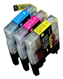 3 Pack Compatible Brother LC-61 ,