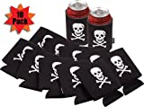 Pirate Theme Can Insulator Koozies (10 Pack)