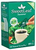 SweetLeaf All Natural Zero Calories SteviaPlus, 100 Packets, 3.5 Ounce Boxes (Pack of 2)