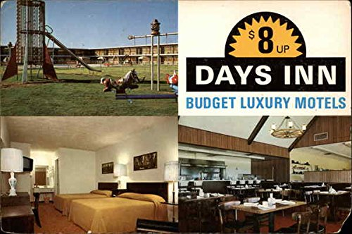 days-inn-budget-luxury-motels-daytona-beach-florida-original-vintage-postcard