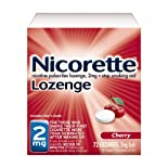 Nicorette Stop Smoking Aid, 2 mg, Lozenges, Cherry, 72 ct.