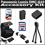 Accessory Kit For The Panasonic Lumix DMC-G10 DMC-GF1C DMC-GH1 DMC-G1 DMC-G2 Digital Camera Includes 16GB High Speed SD Memory Card + 2.0 USB Card Reader + Extended Replacement DMW-BLB13 (1500 mAH) Battery + Ac/Dc Rapid Charger + Carrying Case + More