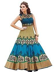 Laxmivilla designer Blue hand work gown