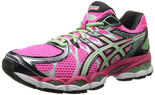 ASICS Women's Gel-Nimbus 16 (D) Running Shoe,Hot Pink/Green/Black,7.5 D US