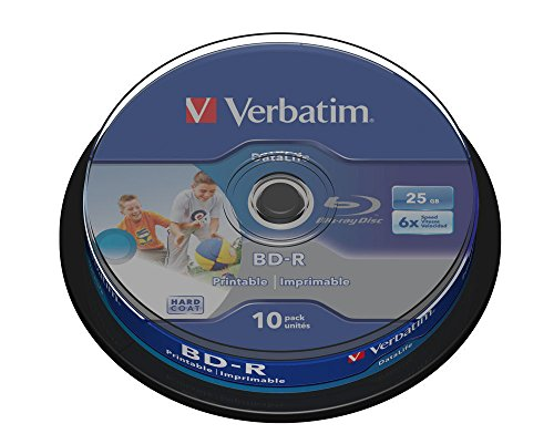 10-verbatim-datalife-bd-r-blu-ray-vergine-25gb-printable-stampabile