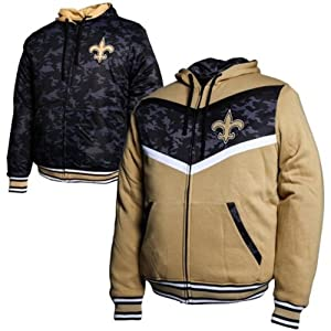 New Orleans Saints Black Ops Reversible Full Zip Hoodie by MTC Marketing, Inc
