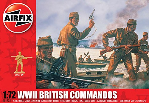 Airfix A01732 1:72 Scale WWII British Commandos Figures Classic Kit Series 1