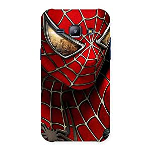 Premium Spide Two Red Back Case Cover for Galaxy J1