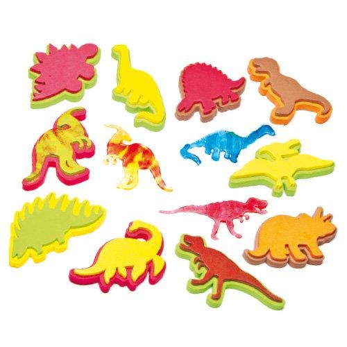 恐竜 スタンプ(10個入り) 子どもたちの手作りに デコレーションに 楽しく遊べる10種類!ダイナソー