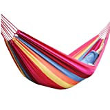 Canvas 200x80cm Hammock Tourism Camping Hunting Leisure Hammock Color Blue
