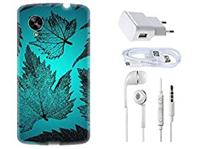 Spygen LG Google Nexus 6 Case Combo of Premium Quality Designer Printed 3D Lightweight Slim Matte Finish Hard Case Back Cover + Charger Adapter + High Speed Data Cable + Premium Quality Handfree
