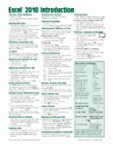img - for By Beezix Inc Microsoft Excel 2010 Introduction Quick Reference Guide (Cheat Sheet of Instructions, Tips & Shortcu book / textbook / text book