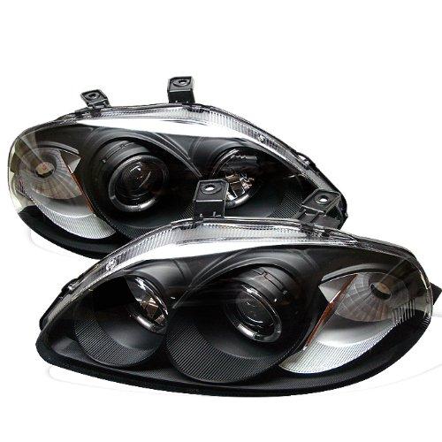 Spyder Auto Honda Civic Black Halogen Projector Headlight (Black Rims For Honda Civic compare prices)