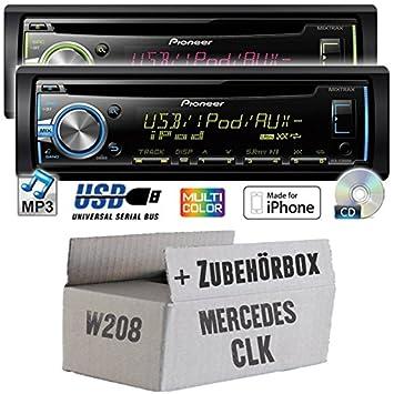 Mercedes cLK w208 pioneer dEH-x3800UI-cD/mP3/uSB avec kit de montage