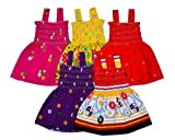 #8: Sathiyas Baby Girls Gathered Dresses (Pack of 5) (2-3 Years)