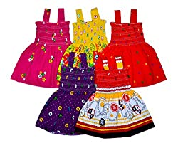 Sathiyas Baby Girls Dresses (Pack of 5)
