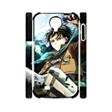 Hot Japanese Anime Attack on Titan Samsung Galaxy S4 I9500 Dual-Protective Polymer Case Cover at Goodcase