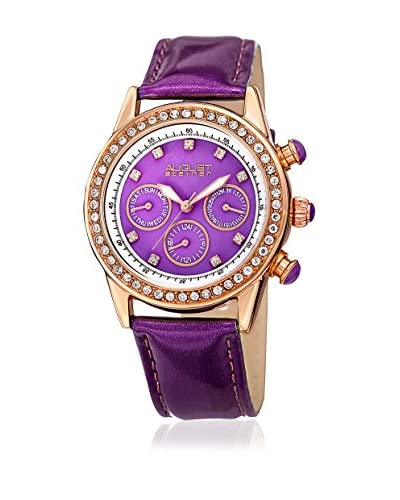 August Steiner Reloj de cuarzo AS8018PU Violeta 39 mm