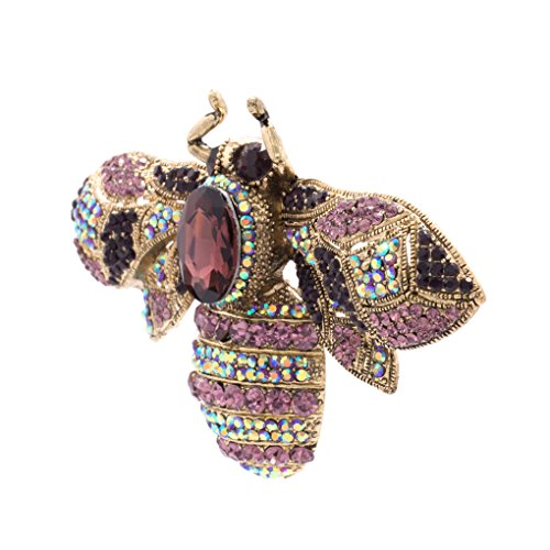Vintage Style Rhinestone Crystal Bug Bee Brooch Pin Animal Broach Pins Jewelry 6608 2