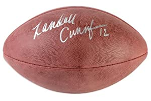 Randall Cunningham Philadelphia Eagles Autographed Pro Football - Memories - Mounted... by Sports Memorabilia