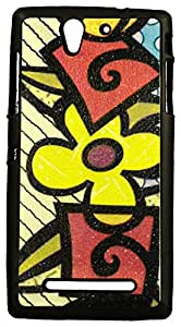 Zeztee ZT7202 Multicolor print Mobile Back Cover For Sony Experia C3