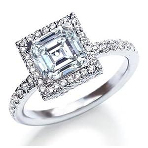 certified 3.00 ct princess cut diamond wedding engagement anniversary bridal ring set band