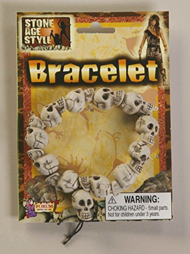 Skull Bracelet Stone Age Style Cave Man Jewelry 63239